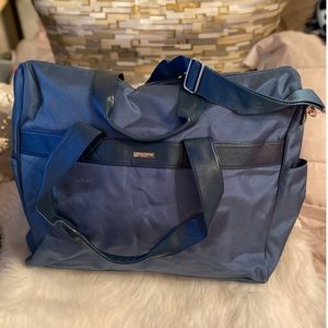 Giorgio Armani Travel Blue Nylon Weekend Bag🌊
